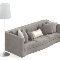 简约欧式三人沙发3d模型下载