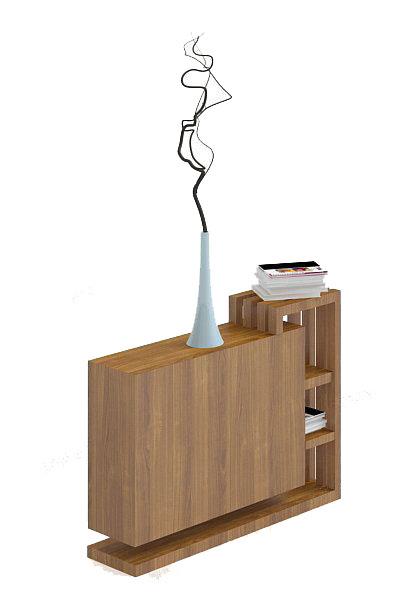 现代书柜3d模型下载
