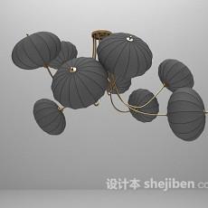 中式灯笼吊灯免费3d模型下载