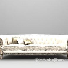 欧式三人沙发3d模型下载