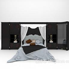 床具组合3d模型下载