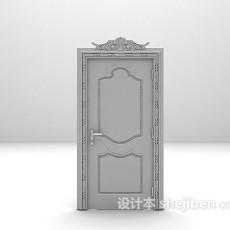 欧式木质门3d模型下载