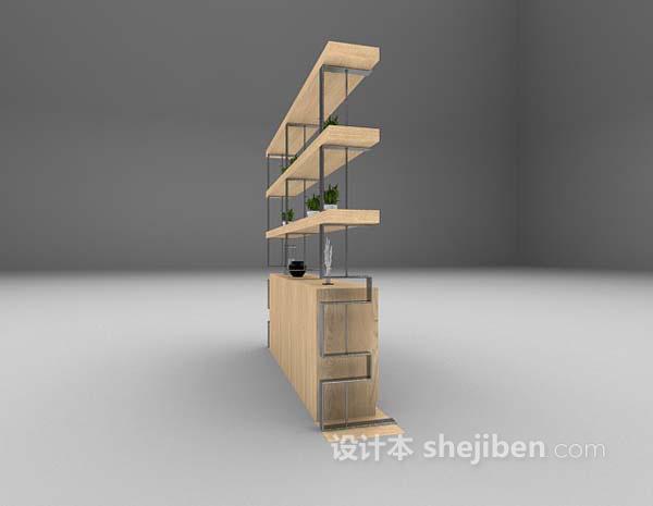 木质展示架3d模型下载