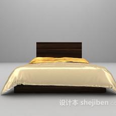 木质床3d模型下载