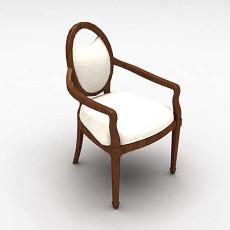 欧式新古典风格单椅3d模型下载