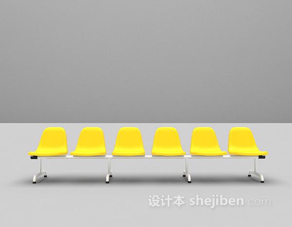 公共休闲椅3d模型下载
