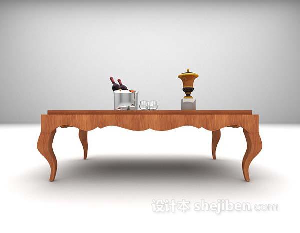 灰色茶几3d模型下载