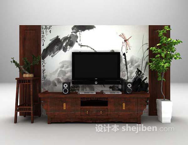 电视墙3d模型下载推荐