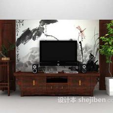电视墙推荐3d模型下载