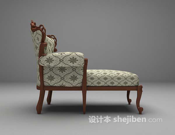 布艺椅3d模型下载