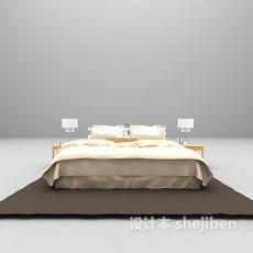 白色床3d模型下载