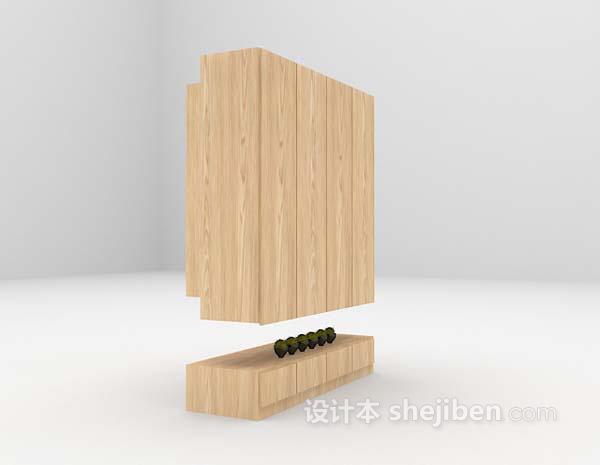 木质橱柜3d模型下载