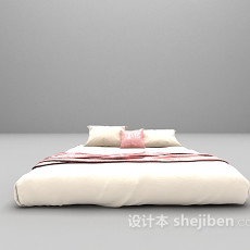白色床欣赏3d模型下载