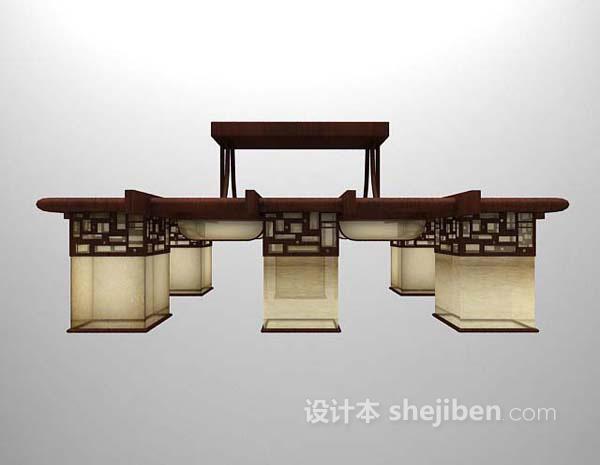 大型吊灯3d模型下载