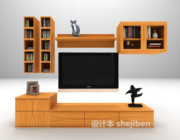 多功能电视柜3d模型下载