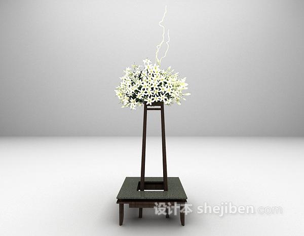 室内花艺装饰3d模型下载