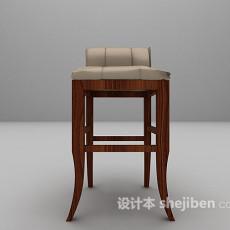 皮面吧椅3d模型下载