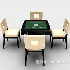 麻将游戏桌3d模型下载