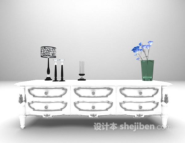 白色柜子3d模型下载