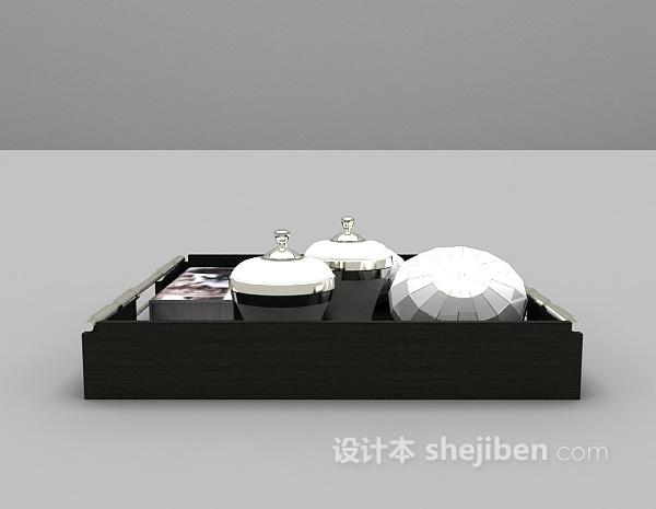 现代风格托盘3d模型下载