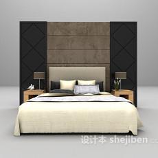 灰色床欣赏3d模型下载