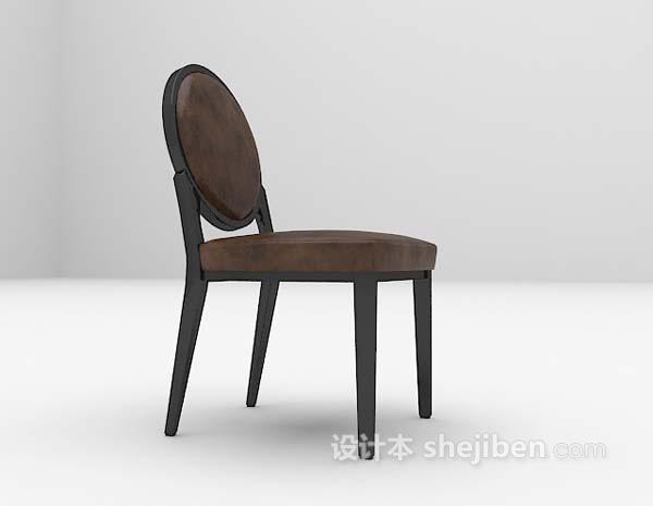 黑色家居椅3d模型免费下载