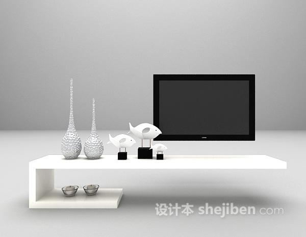现代简约电视柜3d模型下载