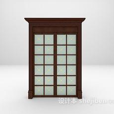 欧式玻璃门3d模型下载