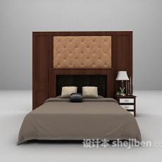 双人床3d模型下载