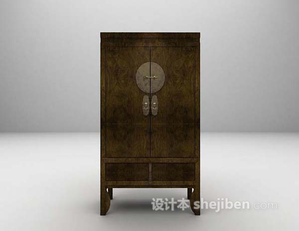 中式衣柜3d模型下载