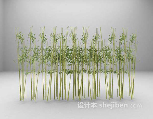 竹栅栏3d模型下载