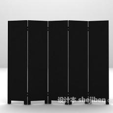 黑色屏风3d模型下载