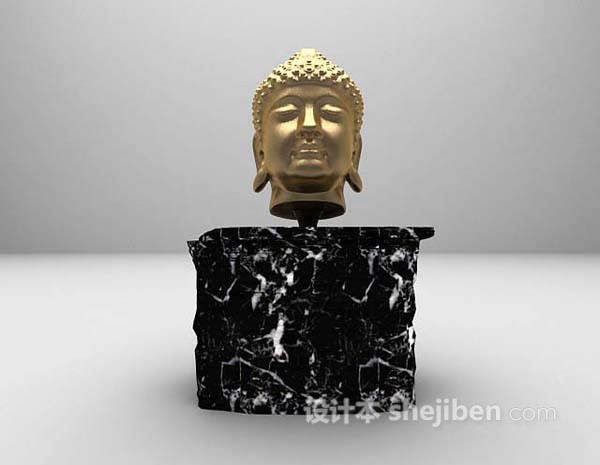 人物雕塑品3d模型下载
