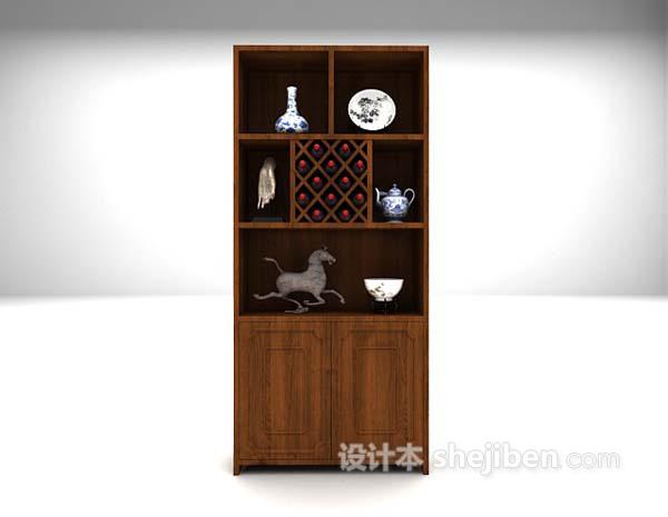 木质展示柜3d模型下载推荐