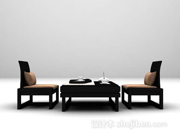 茶几桌椅3d模型下载