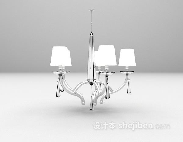 简欧水晶灯3d模型下载