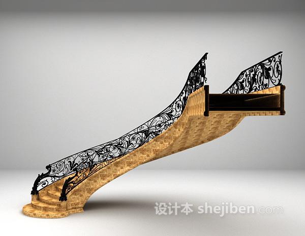 石材楼梯3d模型下载