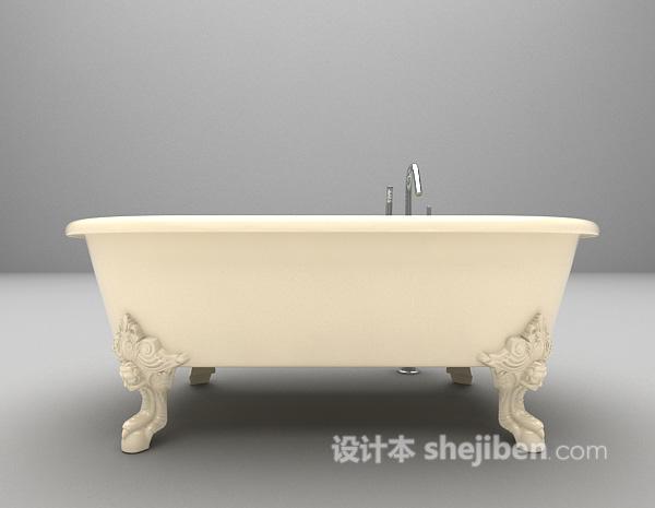带水浴缸3d模型下载