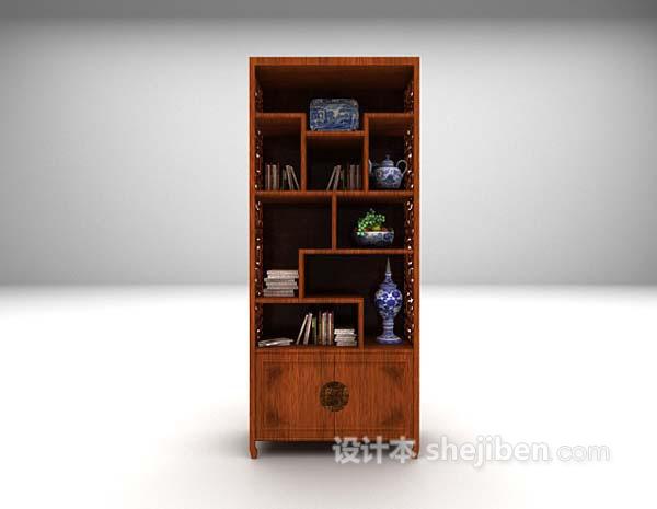 中式展示柜3d模型下载