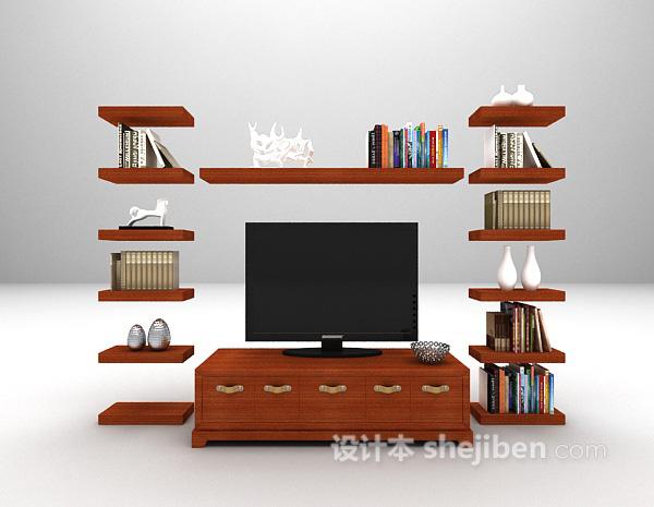 家用电视柜3d模型下载
