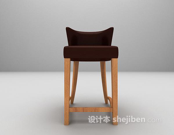 皮质吧台椅模型下载