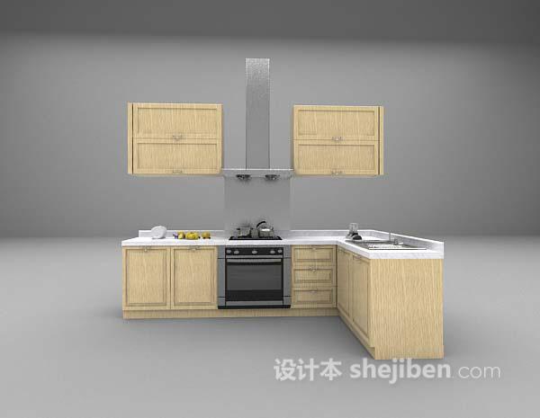 木质厨房用具3d模型下载