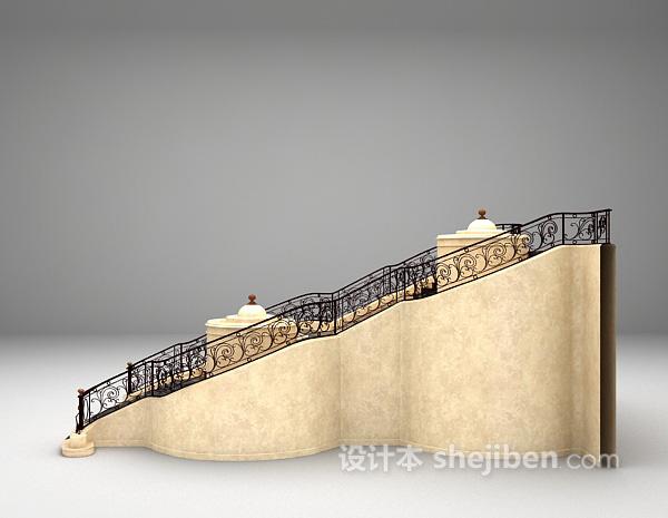 欧式楼梯3d模型下载