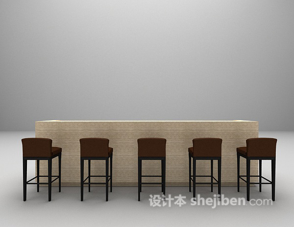 吧台椅免费3d模型下载