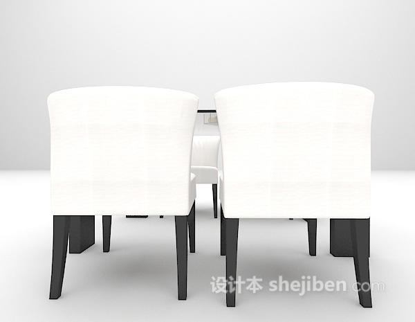 现代餐桌3d模型下载