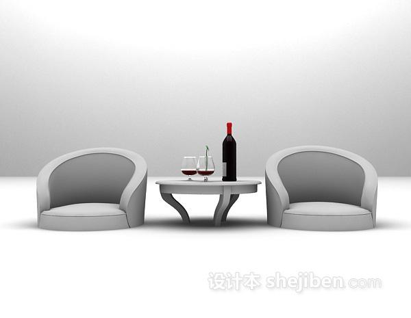 现代简洁沙发3d模型