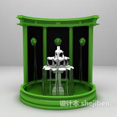 户外喷泉3d模型下载