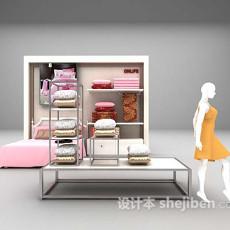 粉色女孩房床的3d模型下载