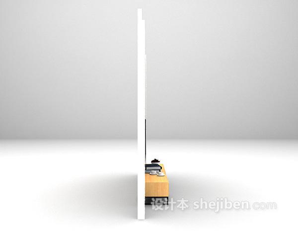 简欧风情电视墙3d模型下载