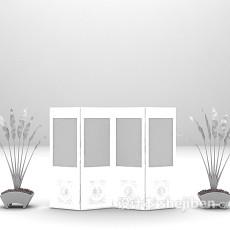 木质屏风欣赏3d模型下载